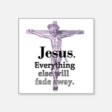 "2-jesus-fade-away Square Sticker 3"" x 3"""