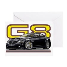 Pontiac_G8_black Greeting Card