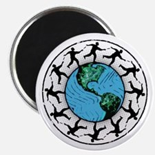 Disc Golfing Planet Earth Magnets