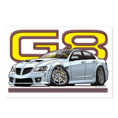 Pontiac_G8_white Postcards (Package of 8)