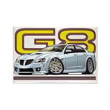 Pontiac_G8_white Rectangle Magnet