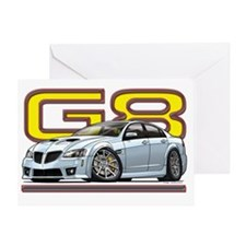 Pontiac_G8_white Greeting Card