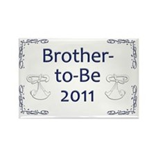 Yard_bro-to-be-11 Rectangle Magnet