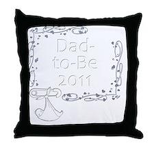 BlkShirtSwrl2_DadToBe11 Throw Pillow
