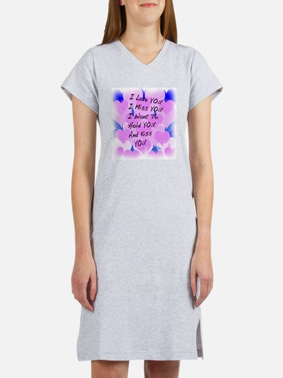 heart painting copy Women's Nightshirt