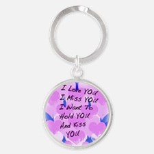 heart painting copy Round Keychain