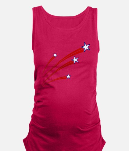 stars and stripes Maternity Tank Top