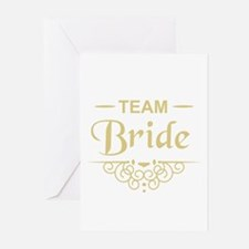 Team Bride in gold Greeting Cards