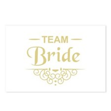 Team Bride in gold Postcards (Package of 8)