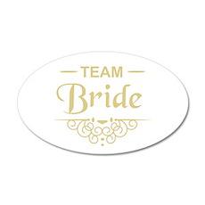 Team Bride in gold Wall Sticker