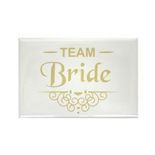 Team Bride in gold Magnets