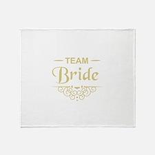 Team Bride in gold Throw Blanket