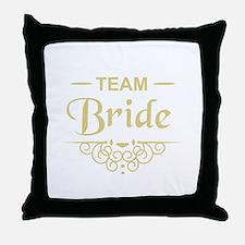 Team Bride in gold Throw Pillow
