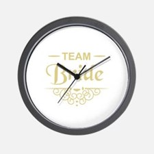 Team Bride in gold Wall Clock
