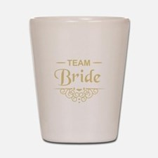 Team Bride in gold Shot Glass