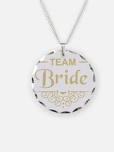 Team Bride in gold Necklace