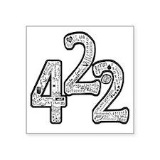 """42.2 hand written merged Square Sticker 3"""" x 3"""""""