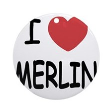 MERLIN01 Round Ornament
