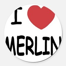 MERLIN01 Round Car Magnet