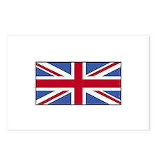 UK Union Jack Flag Postcards (Package of 8)