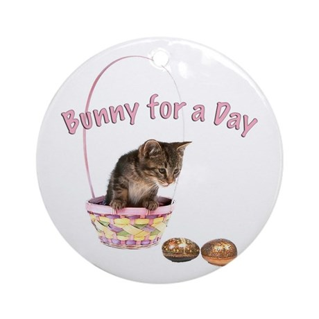 Bunny for a Day Ornament (Round)