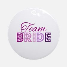 Team Bride in purple and pink Ornament (Round)