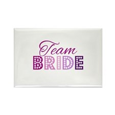 Team Bride in purple and pink Magnets