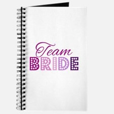 Team Bride in purple and pink Journal