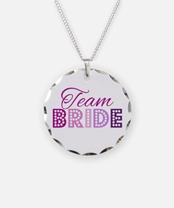 Team Bride in purple and pink Necklace