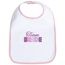 Team Bride in purple and pink Bib