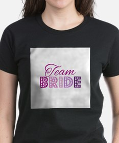 Team Bride in purple and pink T-Shirt
