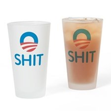 o-sh-Stick Drinking Glass