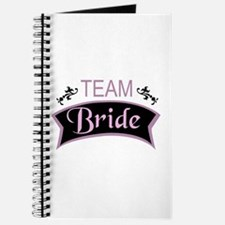 Team Bride in black and pink Journal