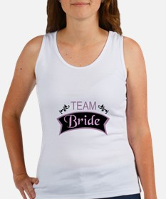 Team Bride in black and pink Tank Top