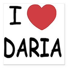 "DARIA01 Square Car Magnet 3"" x 3"""