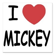 "MICKEY01 Square Car Magnet 3"" x 3"""