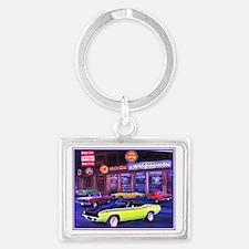 Mopar Car Dealer Landscape Keychain