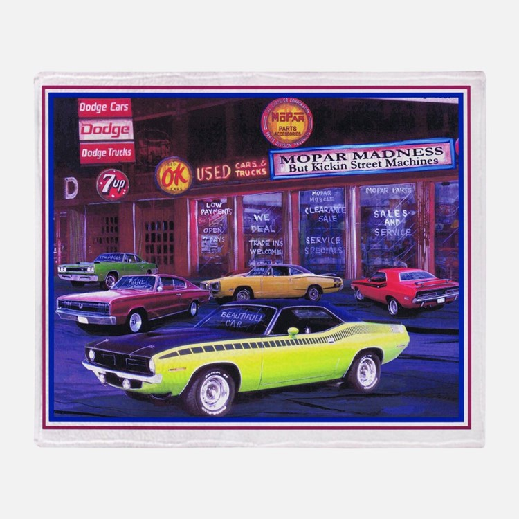 Mopar Car Dealer Throw Blanket