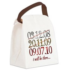 UK_dates_bethere Canvas Lunch Bag