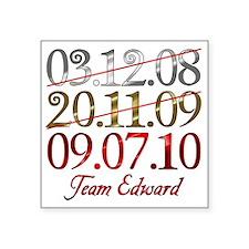 "UK_dates_teamed Square Sticker 3"" x 3"""