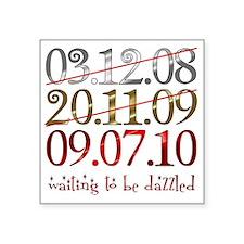 "2-UK_dates_dazzled Square Sticker 3"" x 3"""
