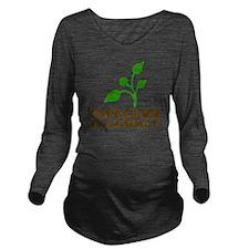 growDammitLite Long Sleeve Maternity T-Shirt