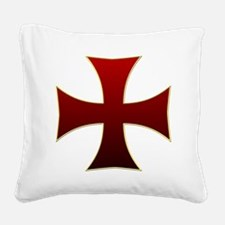 croix pattee Square Canvas Pillow