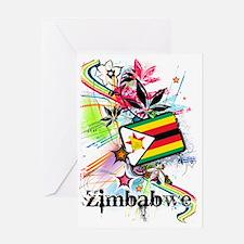 flowerZimbabwe Greeting Card