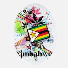 flowerZimbabwe Oval Ornament