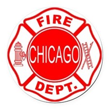 cfd maltese outline filled in fir Round Car Magnet