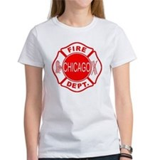 cfd maltese outline filled in fire Tee
