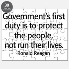 Ronald Reagan Quote Limited Government Puzzle