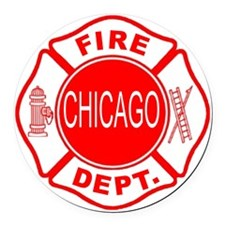 2-cfd maltese outline filled in f Round Car Magnet