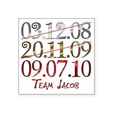 "UK_dates_teamjacob Square Sticker 3"" x 3"""
